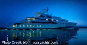 blohm voss super yacht for sale
