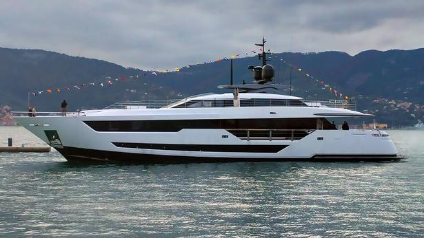 megayacht Custom Line 120 yacht launched Ferretti Group