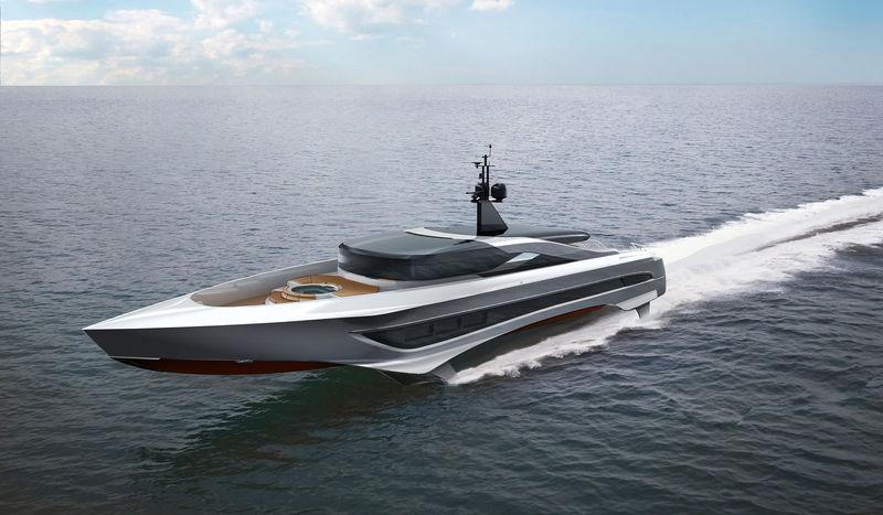 megayacht Rocket Foiling Yacht Concept Capable of Reaching 60 Knots
