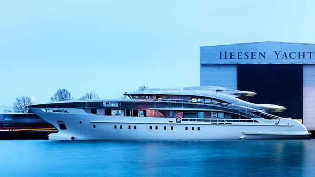 megayacht heesen project maia yacht launched credit dick holthuis
