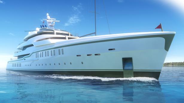 megayacht crn explorer concept 86 metres harrison eidsgaard design bow view