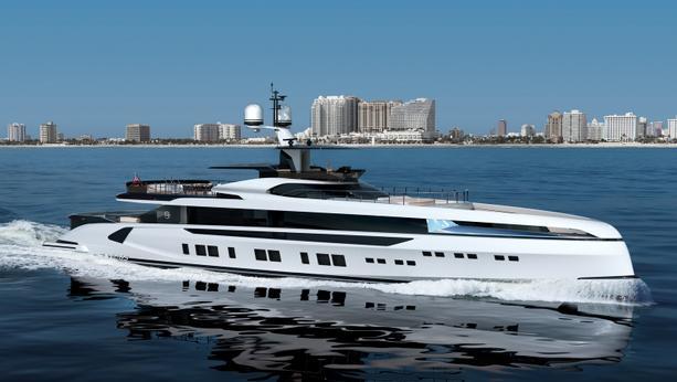 megayacht Dynamiq GTT 165 yacht running shot