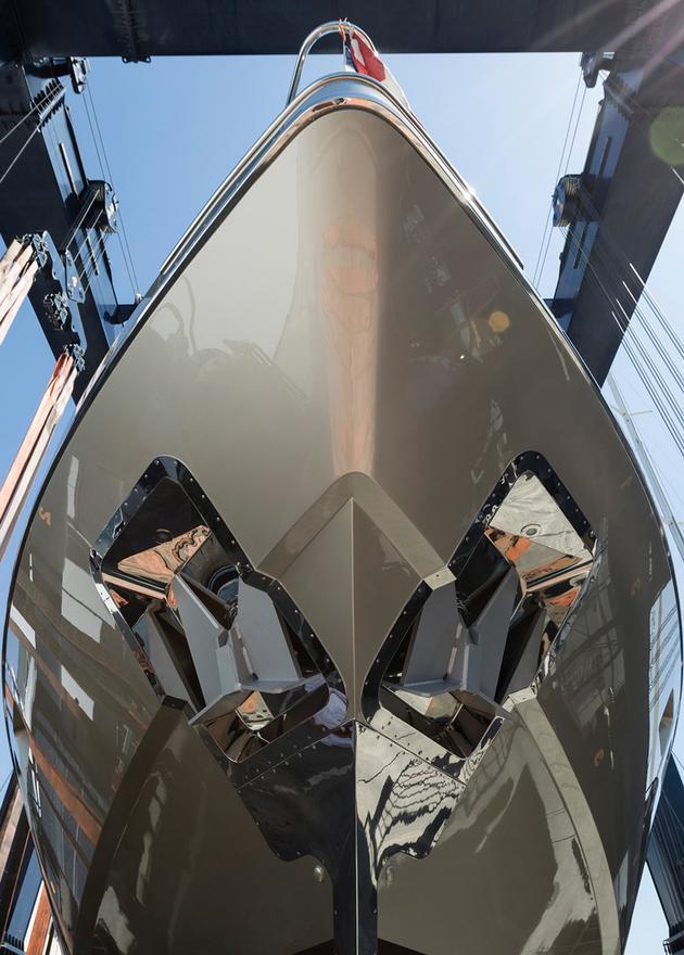 megayacht mangusta 94 yacht launched overmarine