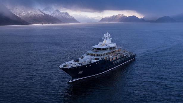 megayacht Kleven K370 explorer yacht sea trials 615x346