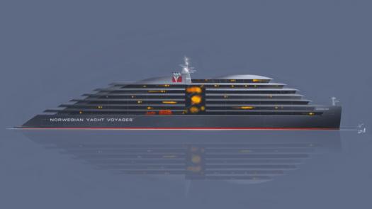 megayacht MY Caroline. Credit Norwegian Yacht Voyages 665x374