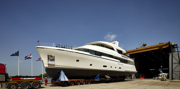 megayacht moonen launch first high tensile steel hull yacht